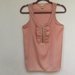 One Clothing Womens Tank Blouse Small Pale Peach